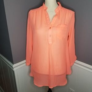 Rue 21 | Sheer Coral Blouse